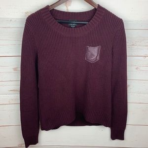 W by Worth | Burgundy Chunky Pullover Sweater